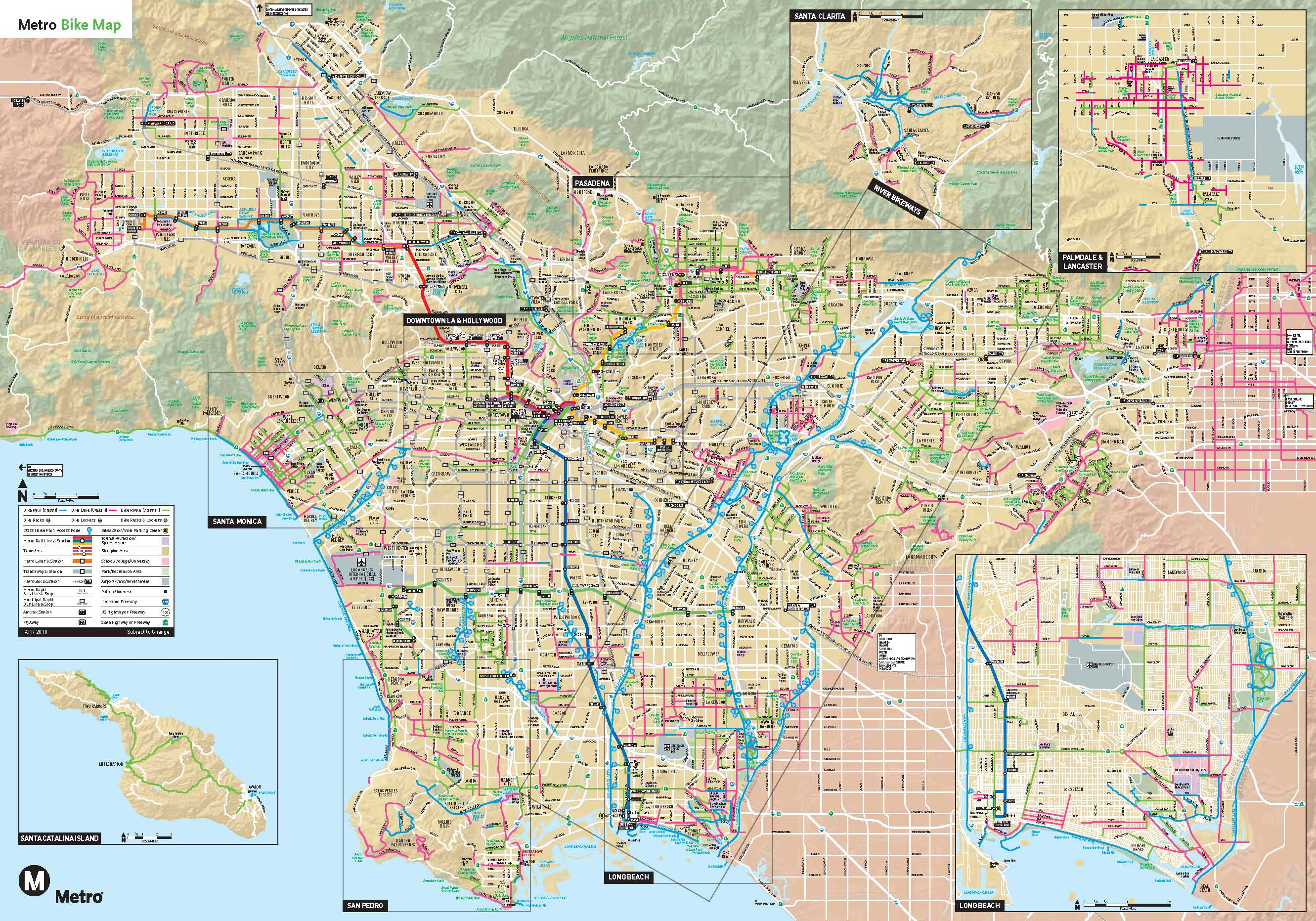 Los Angeles Subway Map Pdf.Existing Routes And Plans South Bay Bicycle Coalition