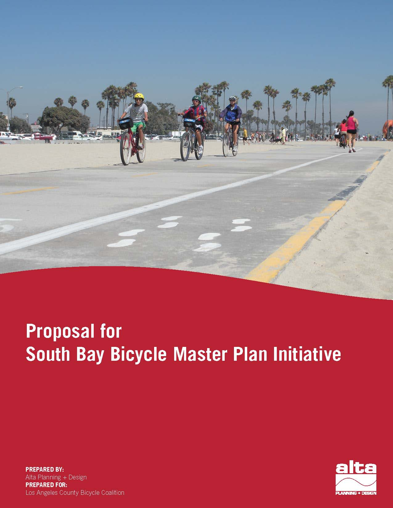 South Bay Bicycle Coalition  Proposal Cover Page Design
